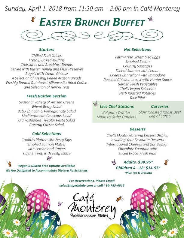 Easter Sunday Brunch in Toronto | Holiday Inn Toronto ...
